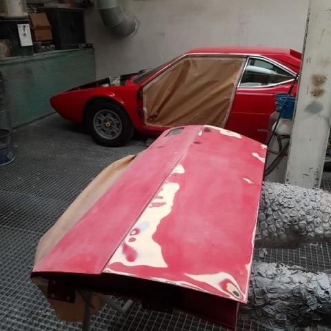 Peinture complète intérieur - extérieure  FERRARI 308 GT4
